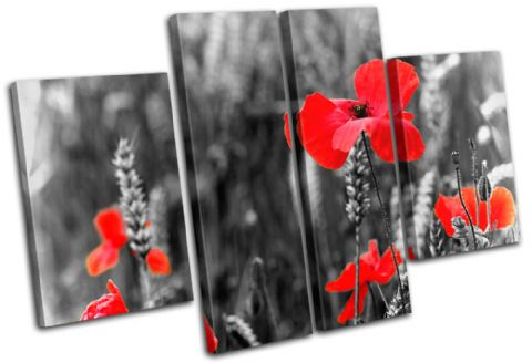 red Poppys floral - 13-0570(00B)-MP17-LO